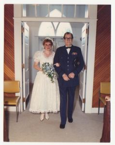 Mom With Her Dad In His Uniform