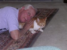 Sam and His Dad Playing on the Rug