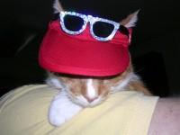 Sam in his visor and sunglasses!