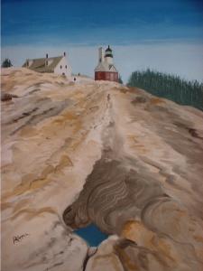 My original Oil painting of Pemaquid Point Light