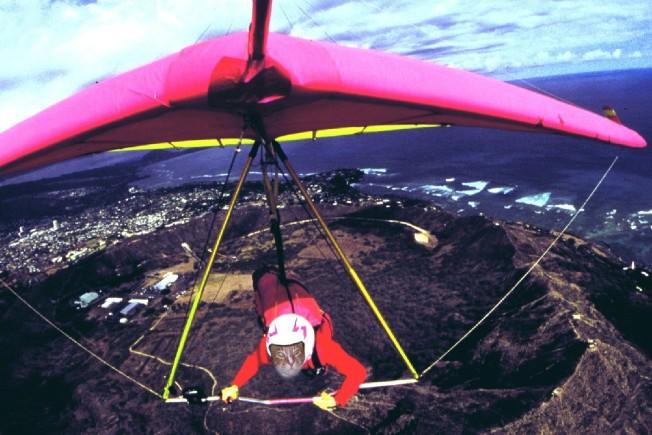 Sammy's new hobby - hang gliding!