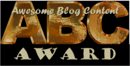 The ABC Blogging Award