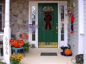 This was Sam-O-Ween 2012 (with a neighbor kitty photobombing!)