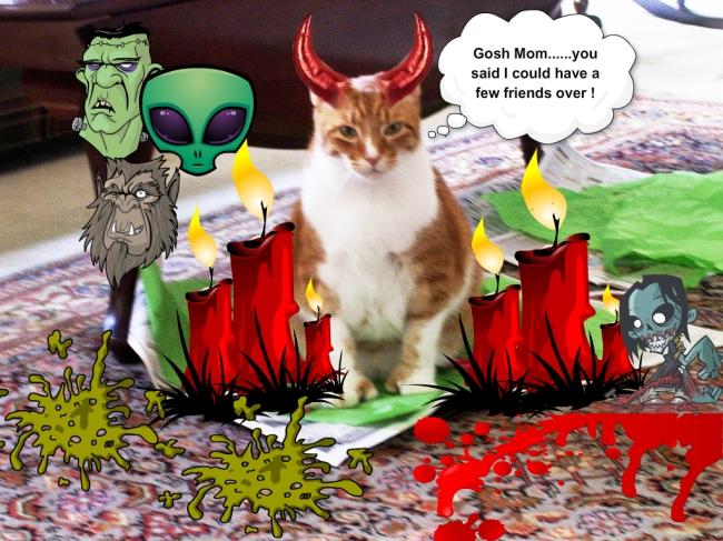 Me in my devil costume.....