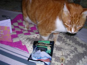 Treats and a mousie TOO?  I'm so lucky aren't I Mommy!!!