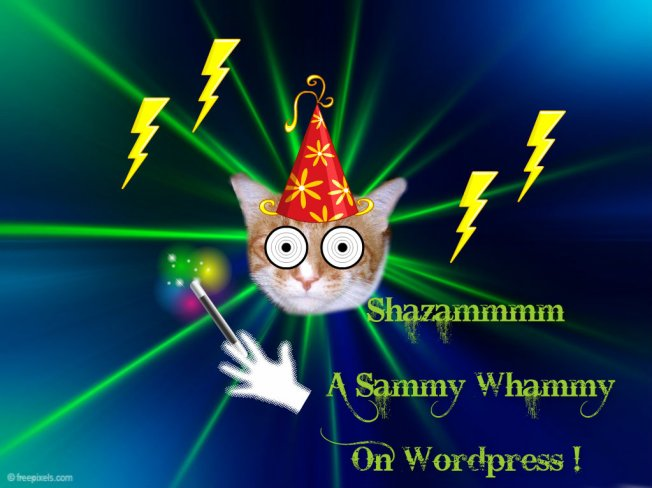 I put the Whammy on WordPress so MAYBE that will help if you have problems voting again today????!!!