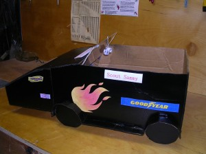 One sweet ride yes?  My Dad made it for me for Cat Scouts!!