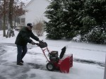 Dad loves playing in the snow!