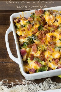 Oh boy!  Bacon/cheese casserole!