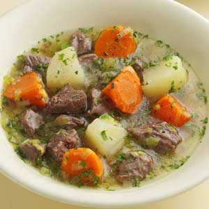 Irish Stew!  Yes it's good for breakfast!