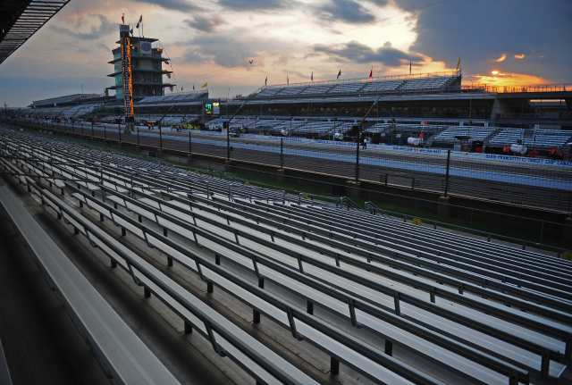 Early in the morning at the Indianapolis Speedway....quiet....but not for long!