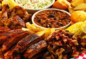 Ribs, cole slaw, the works!