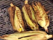 Grilled corn on the cob!