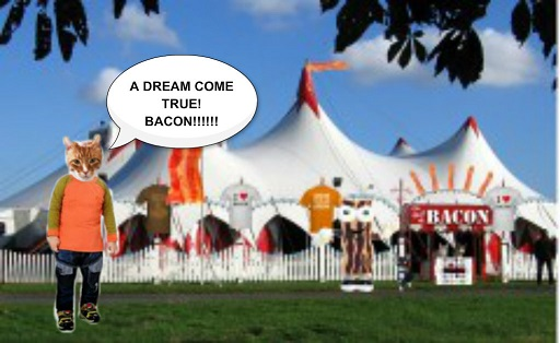 The highlight of yesterday's Carnival was the BACON TENT!
