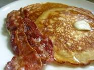 OK Mom....you have two slices of bacon with your pancakes.....do you really NEED two?