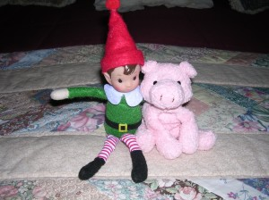 You can try to get my friend Bacon on your side Elfis by pretending to like Mom's pig.....FORGET ABOUT IT!