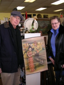 My Mom and Dad with the Japanese print