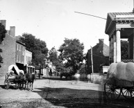 Main Street in 1862 during Civil War