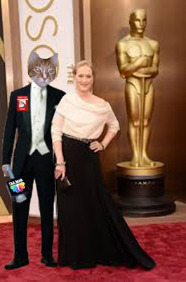Me and Meryl hangin' out at the Oscars......