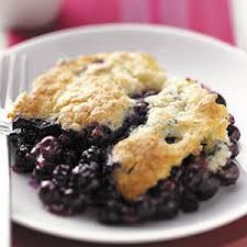 Quickie Blueberry Cobbler