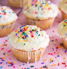 Lemon poppyseed birthday cupcakes!