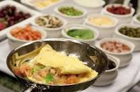 An omelette station - just add what you like!