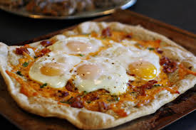 Breakfast pizza? Oh yeah!