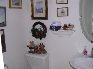 What?  The powder room?  Mom!  Did you HAVE to include that in the photos????