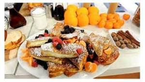 Stuffed French toast....