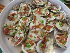 Oysters with Bacon and Cheese!