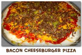 Bacon cheeseburger pizza...