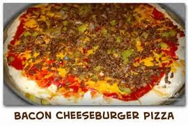 Bacon cheeseburger pizza...