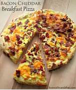Bacon Cheddar Breakfast Pizza